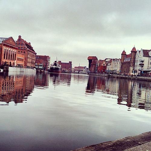 Gdansk Poland Water Reflection buildings sky