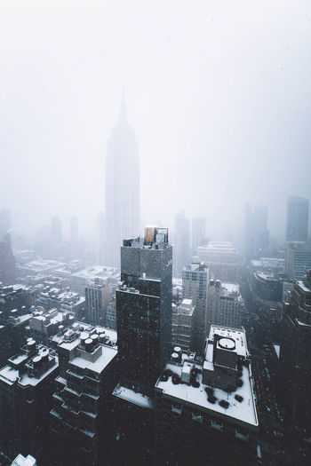 Cityscape During Winter
