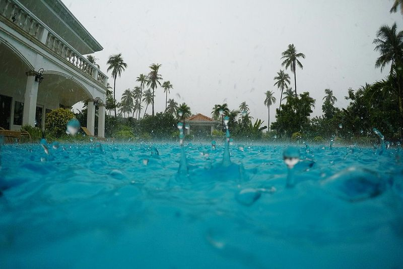 Swimming Pool Water Outdoors Swimming Tropical Climate No People Architecture Philippines Rainy Days Tropical Tropical Storm Rain Drops Raindrops Rain Storm Rainstorm Extreme Weather Tropical Paradise Weather Storm Rainy Rain Gopro Swimming Tree Day Shades Of Winter An Eye For Travel Visual Creativity Analogue Sound