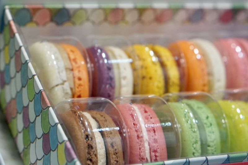 Foodporn Close-up Colorful Macarons Food And Drink Indoors  No People Food Retail  Freshness Ready-to-eat