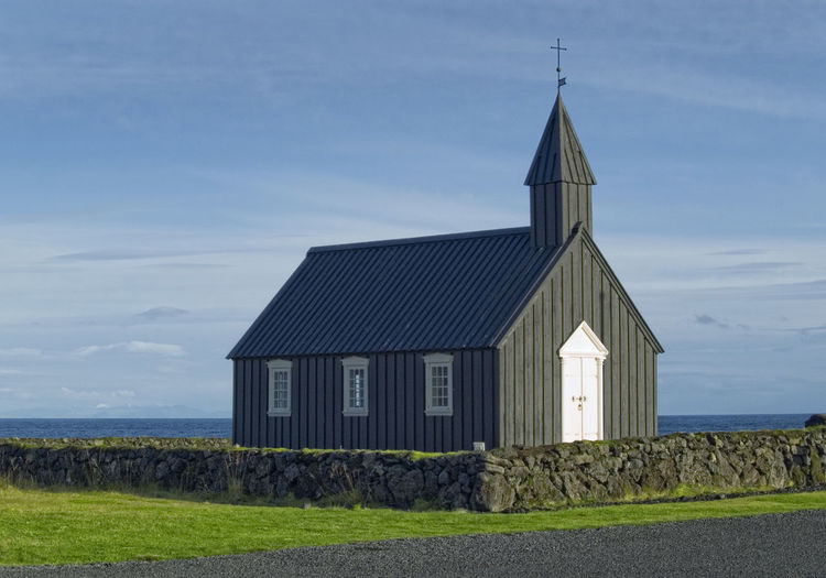 Architecture Blackchurch Building Exterior Built Structure Day Grass History Iceland Islandia Nature No People Outdoors Place Of Worship Religion Sky Spirituality