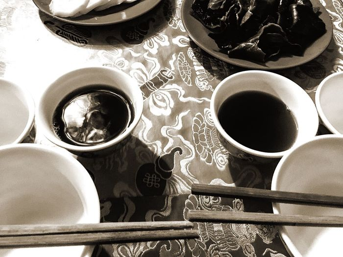 Teatime in Tibet Teatime Tibet Tibetan House Food Little Dishes Plates Bowls Chopsticks Tableware Tablecloth Local Culture Traditional Travel Indoors  Tea Experiment Color Palette Two Is Better Than One Eyeemphoto