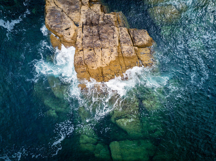 Cliff in the Rias Baixas, Galicia Aerial Atlantic Ocean Beauty In Nature Cliff Drone  Galicia Nature Outdoors Rock - Object Rock Formation Scenics Sea SPAIN Water Waterfall Waterfront Wave