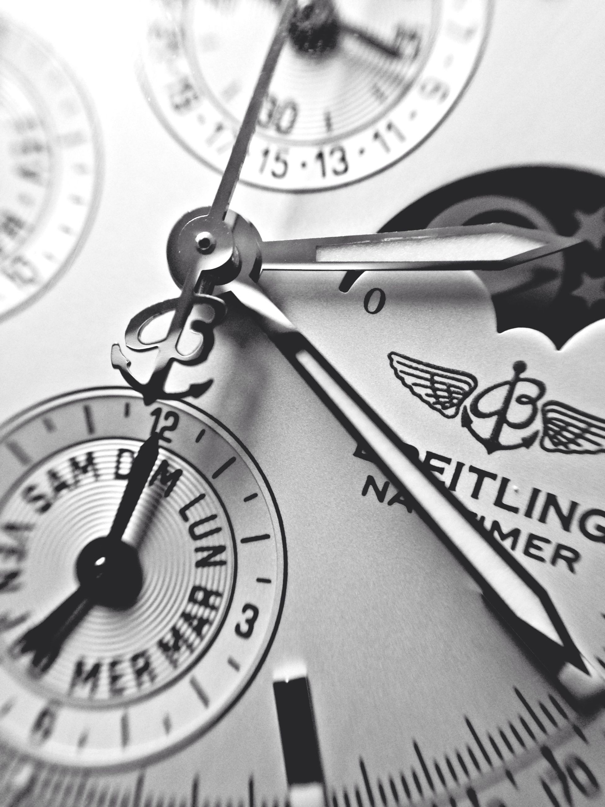 time, clock, indoors, number, communication, close-up, text, accuracy, clock face, instrument of time, technology, old-fashioned, western script, selective focus, minute hand, wall clock, retro styled, focus on foreground, instrument of measurement, part of