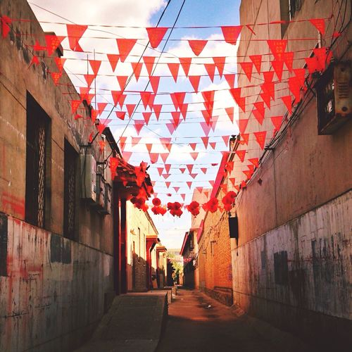 Wandering around Ying in a clueless afternoon. Ying County Shanxi Province Street Photography Alley Local House Colored Flags Festie Accasion