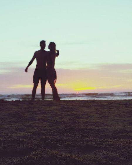 """"""" Céu e mar; e alguém para amar... """" Beach Sea Sunset Sky Nature First Eyeem Photo"""