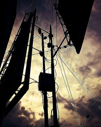 ..sunset in somewhere.. Sunset Sky Yellowsunset Silhouette Cloud Cables Yellowblack Huawei Huawei P9 Lite Huaweiphotography Huaweicamera Huaweigallery HuaweiIndonesia The Week On EyeEm