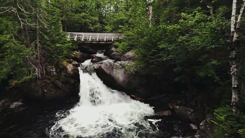 Waterfall Nature Beauty In Nature Outdoors New Brunswick, Canada