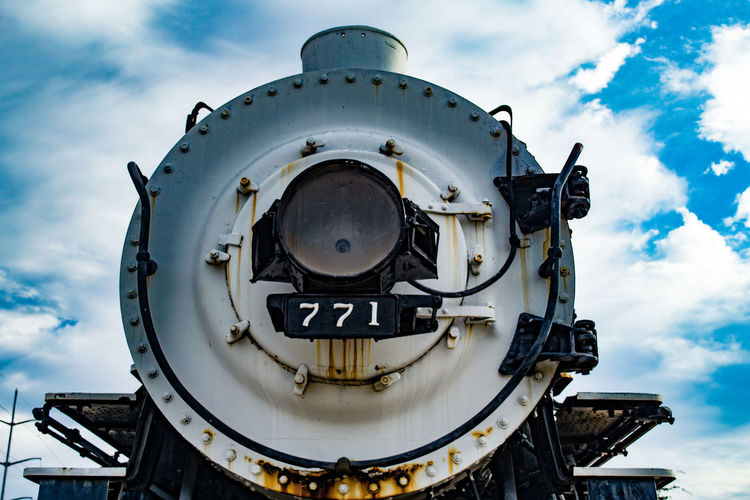 Old Fashioned Close-up Day Locomotive Outdoors Railroad Rusty Sky Steam Train Train