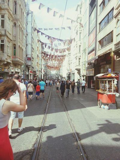 Taksim Istiklal Taksimsquare Taksimbeyoglu Istiklalcaddesi Walking Down The Street