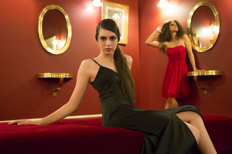 Imogen and Marie-Claire... Actress Arts Culture And Entertainment Beautiful People Beautiful Woman Beauty Brown Hair Closet Clothing Dress Elégance Fashion Fashion Photography Fashion&love&beauty Formalwear Glamour Hairstyle Indoors  Luxury Nightlife One Person Portrait Red Color Theatre Women Young Adult The Fashion Photographer - 2018 EyeEm Awards