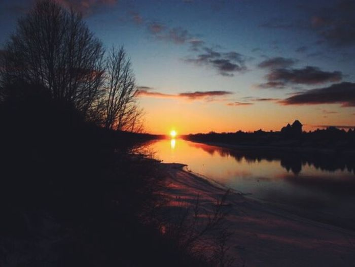Sunset near Moscow River Winter Чулково River View Закат January Nature EyeEm Nature Lover Tramonto (from archive)