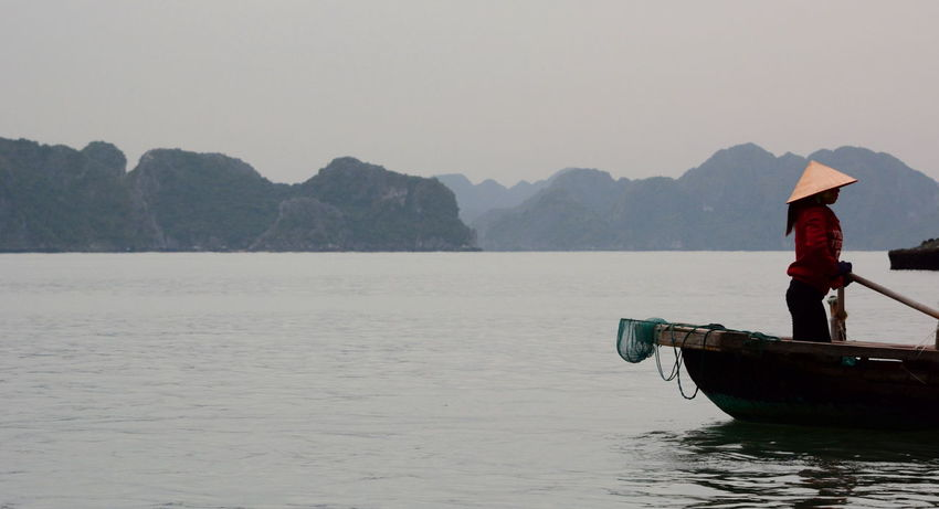 Rowing... ASIA Asian  Cruisin Ha Long Bay Halong Bay Vietnam Halongbay HalongbayCruise Rowing Rowing Boat Travel Travel Photography Travelphotography Vietnam Vietnamese Woman Worker Working Woman Miles Away Let's Go Together