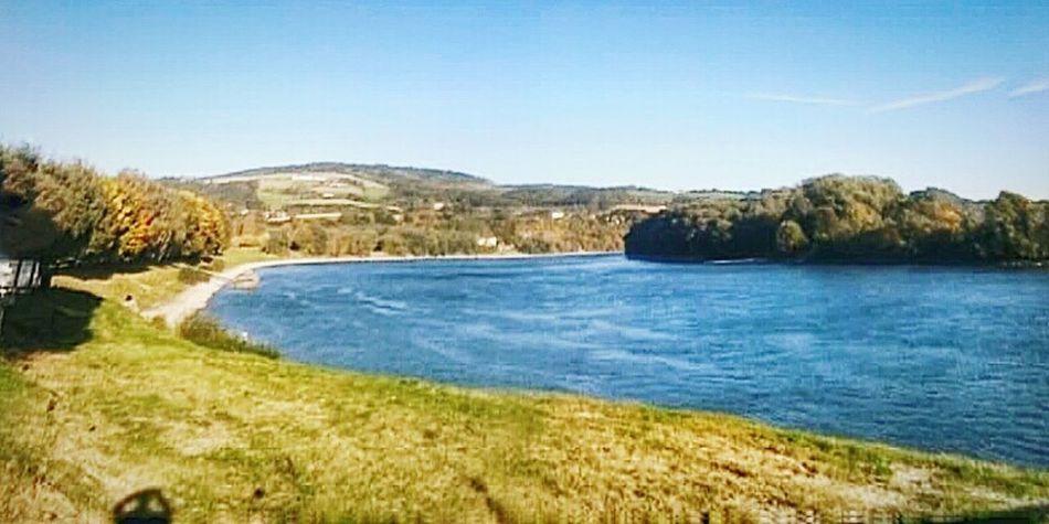 """""""Danubio in Alta Austria"""". River Bank  Riverscape Donau Danube Austria Upper Austria  Fiume Danubio Landscape River"""