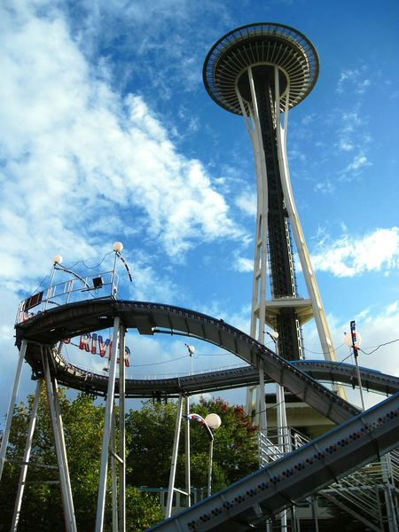Seattle Space Needle Spaceneedle Roller Coaster Seattle Center Seattlecenter
