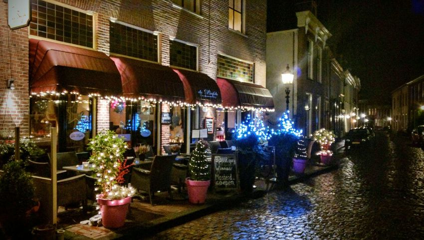 Christmastime Dutch Cities Streetview Doesburg