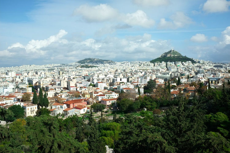 Athens Panorama Architecture Athens Traveling City Sky Cityscape Greece Mountain Plant Mediterranean  Griechenland Mittelmeer Panoramic View No People TOWNSCAPE Akropolis Green Color Häusermeer Lykavittos Travel Destinations Cloud - Sky Ocean Of Houses Philopappos Streetphotography