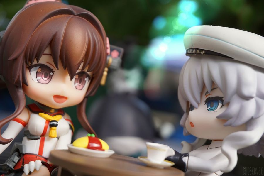 Yamato and Wo-chan :D Yamato Kancolle Kantaicollection 艦隊これくしょん 艦コレ Anime Art Creativity Focus On Foreground ねんどろいど Nendoroid WoClass Outdoors Outdoor Photography Toyphotography Still Life