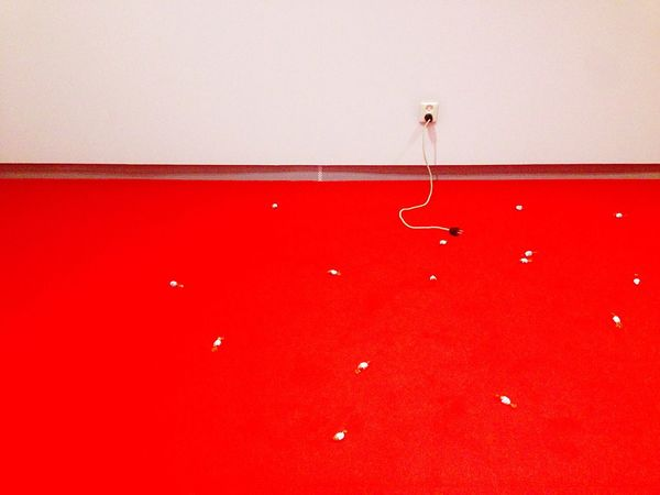 Carsten Höller - 220 Volt - The kinder eggs candy on the floor are the same from 1992 😱 - Red No People Indoors  Close-up Day Art Modern Art Fondazione Prada Art Collection Exhibition Artist Carsten Höller