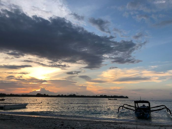Sundown... Sunset Water Sky Beauty In Nature Nature Sea Scenics Cloud - Sky No People Tranquility Beach Outdoors Nautical Vessel Day
