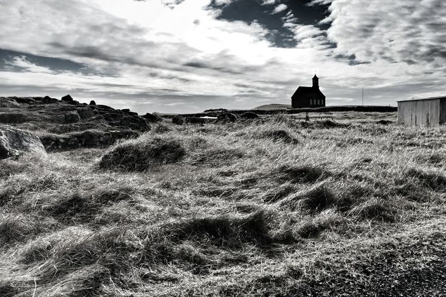 Hvalsneskirkja Oldchurch Skyporn Dramatic Sky Driving Around Taking Photos Hvalsnes Sky_collection Beautiful Day Sky And Clouds Spring Is Coming  Blackandwhite Photography Black And White Collection  The Great Outdoors - 2016 EyeEm Awards