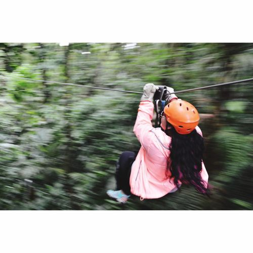 Zip lining 🤗 Outdoors Blurred Motion Adventure One Woman Only Nature Motion First Eyeem Photo