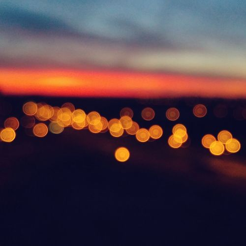 Bokeh Bokeh Photography Bokehlights Lights Glare Glares Sunset Sunshine Defocused Wallpaper Sky Night Close-up Illuminated Backgrounds Circle Orange Color Tranquility Focus Refocused Unfocused Unfocused Background Red Outdoors Beauty In Nature
