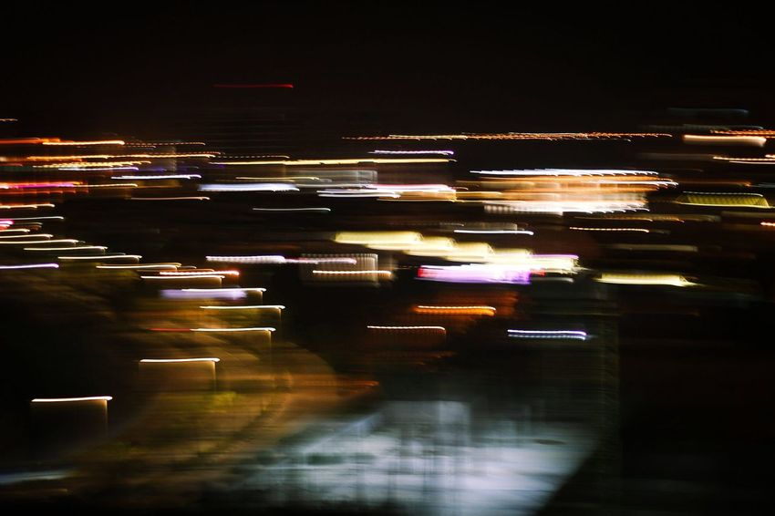 I'm on my way Illuminated Night Blurred Motion Motion Long Exposure Speed Light Trail Transportation City High Street No People Outdoors