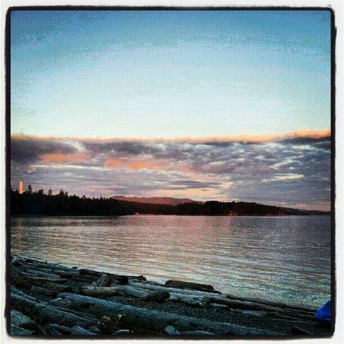 Powellriver Bc Beach Clouds