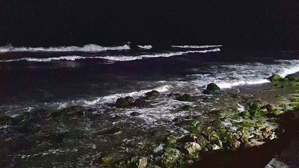 Seaside Sea At Night Nightphotography Waves Night Photography Nightshot Sea Check This Out Taking Photos EyeEm Night Shots My Perspective