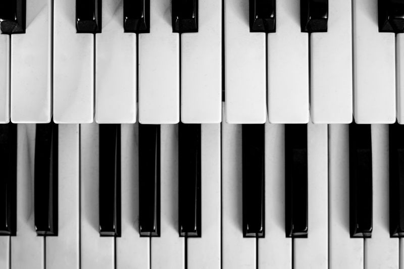 Piano keys. Piano shot close up. Musical instrument. Arts Culture And Entertainment Black Color Close-up Directly Above Full Frame High Angle View In A Row Indoors  Keyboard Instrument Music Musical Equipment Musical Instrument No People Piano Piano Key Repetition Side By Side Still Life Synthesizer White Color