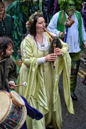 Jack In The Green Festival Jack In The Green East Sussex May Day 2017 Pagan Festival Pagan Mature Adult Adult Men Women Two People Outdoors One Person Freshness Arts Culture And Entertainment Focus On Foreground Carnival - Celebration Event Community Human Representation Celebration Performance Only Women Close-up Green Color Friendship