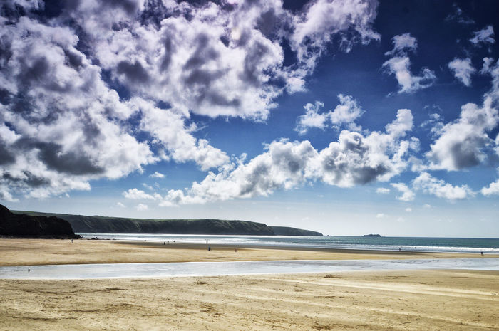 Beach Beauty In Nature Cloud - Sky Day Horizon Over Water Nature No People Outdoors Pembrokeshire Sand Scenics Sea Shore Sky Tranquil Scene Tranquility Water