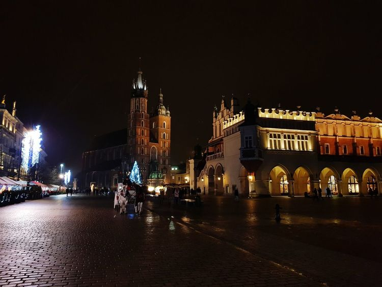 Christmas in Krakow Krakow Krakow,Poland Rynek Główny Poland Night Illuminated Travel Destinations Architecture Outdoors Cityscape Built Structure