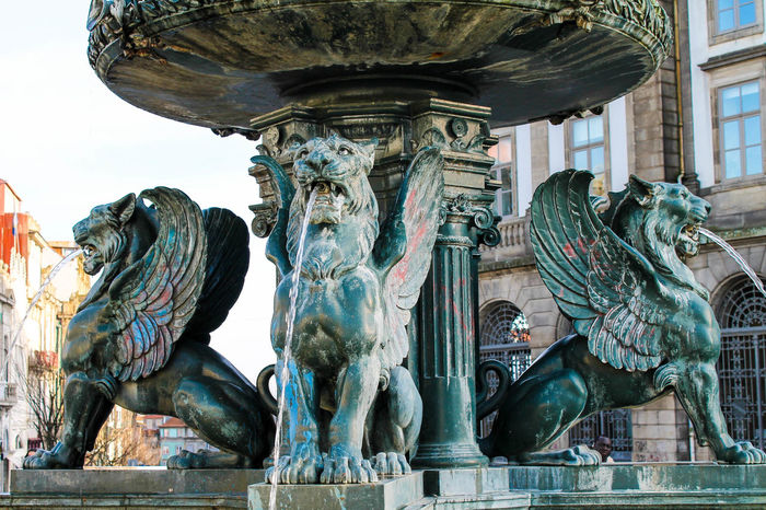 Lions Architecture Fountain Lions Mythology Outdoors Sculture Statues Water EyeEmNewHere