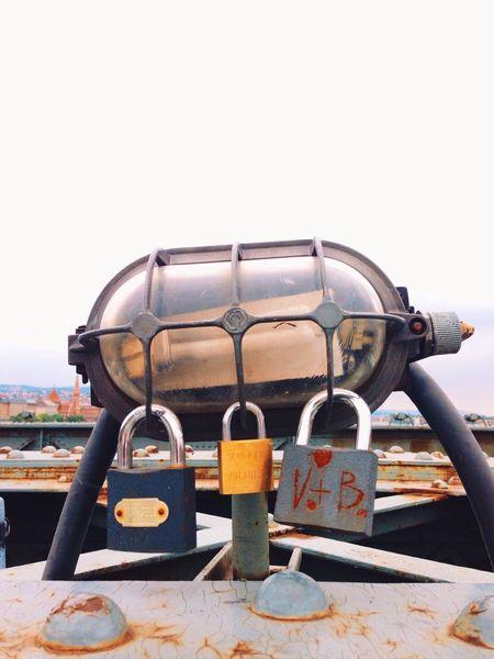 Lovers locks along Libert Bridge. Claudiasmoments