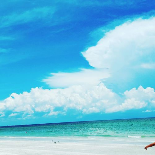 EyeEm Selects Beach Sand Sea Water Cloud - Sky Sky Vacations Blue Landscape Sunny Travel Destinations Tranquil Scene Summer