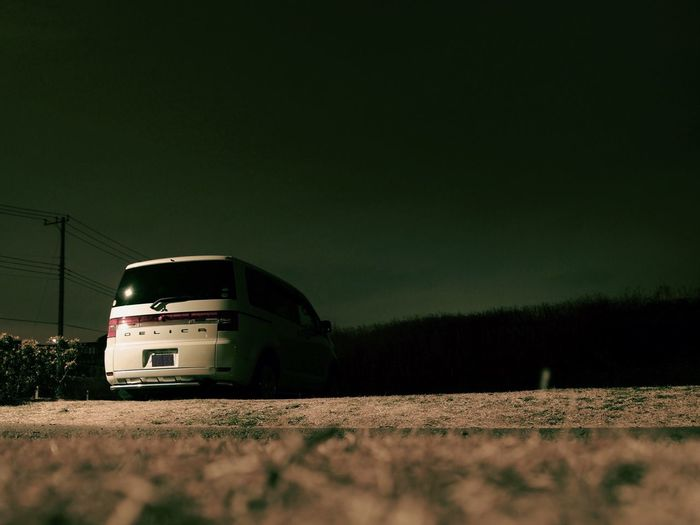Night D5 Mitsubishi Delica Delica Car Transportation Land Vehicle Outdoors Mode Of Transport No People Nature Day