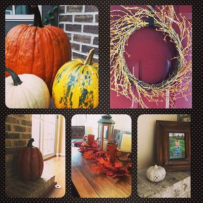 Happy Fall ya'll 💛☕🍊🍁🍂🌽Falldecor Harvesttime Chicago 63degreesoutside obsessedwithpumpkins