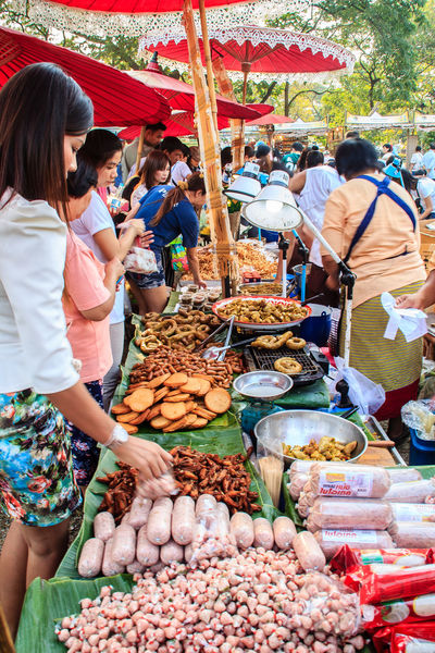 Bangkok, Thailand - January 17, 2015: Unidentified Thai venders selling variety of foods in local fresh market at Bangkok , Thailand. Seller And Customer Street Food Vendors Vendor Supplying Food Abundance Casual Clothing Choice Day Food Food And Drink For Sale Fresh Market Fresh Marketplace Freshness Healthy Eating Large Group Of Objects Large Group Of People Market Market Stall Market Vendor Marketplace Men Outdoors People Real People Retail  Seller Seller And The Buyer Street Food Street Food Market Street Foods Variation Variety Of Food Vender Women