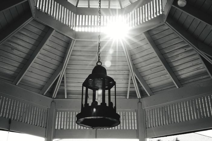 sun flare through the gazebo Sun Vacation Holiday Canadian Sony Fullframe Family Photography Blackandwhite Monochrone Bnw Contrast Gazebo Flare Architecture Built Structure History Indoors  Sunlight No People Building Exterior Travel Destinations Day City