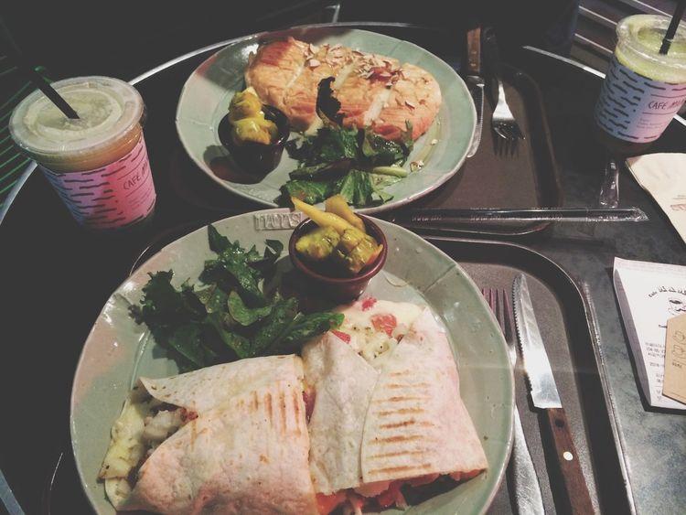cause I love panini <3 lol Eating Panini Somewhere In Seoul