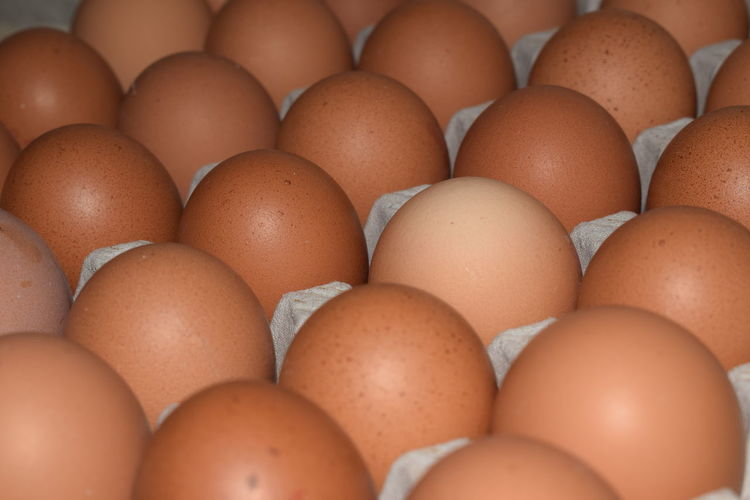 Full Frame Shot Of Eggs