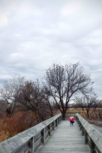 Photo essay - A day in the life. Platte River Grand Island, Nebraska November 6, 2016 A Day In The Life America Camera Work Cloud - Sky Day Eye Em Nature Lover Eye For Photography MidWest Nature Nebraska On The Road One Person Outdoors Photo Diary Photo Essay Railing Road Trip Sky Storytelling Travel Photography Tree Visual Journal Winter