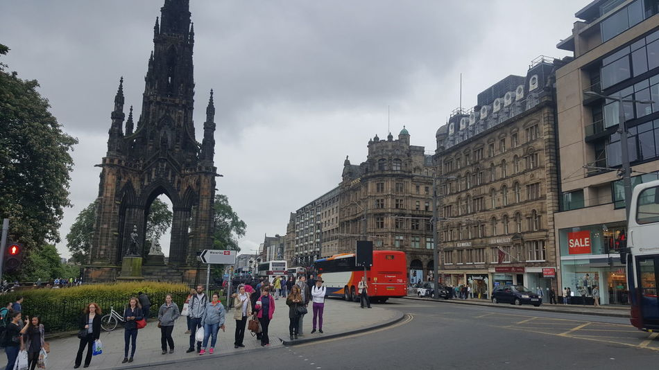 Princes Street is one of the major thoroughfares in central Edinburgh, Scotland, and its main shopping street. It is the southernmost street of Edinburgh's New Town, stretching around 1 mile (1.6 km) from Lothian Road in the west to Leith Street in the east. The street is mostly closed to private cars, with public transport given priority. The street has virtually no buildings on the south side, allowing panoramic views of the Old Town, Edinburgh Castle, and the valley between. Architecture Architecture & Statues Architecture Details Architecture Facade Architecture Photography Architecture_bw Architecture_collection Architecturelovers Architecturephotography Architectureporn EyeEm Best Shots From My Point Of View Gothic Gothic Architecture Hidden Gems  Outdoors Princes Street Princes Street Gardens Scotland Scott Scott Monument Scottish Victorian Victorian Architecture Walter Scott