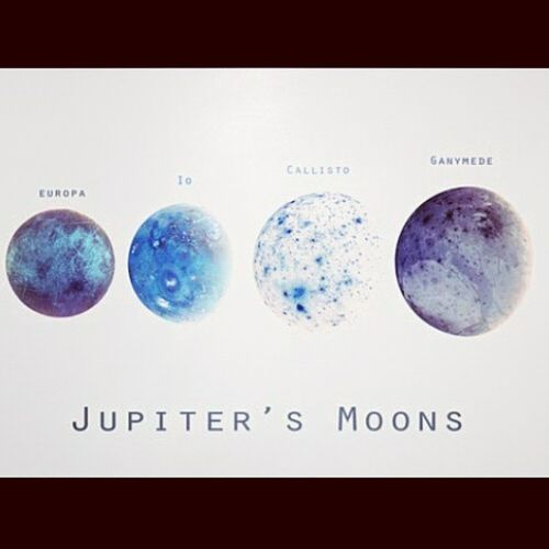 Four of 67 moons of Jupiter <3 *-* Moon My World Science Physics