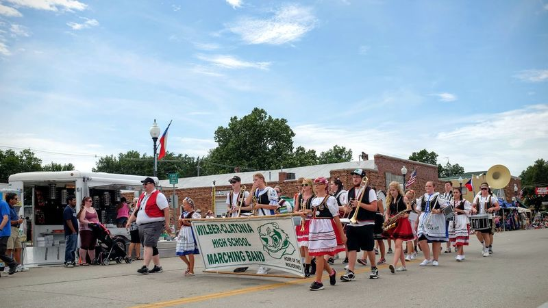 55th Annual National Czech Festival August 5, 2016 Wilber, Nebraska Celebration Color Photography Community Czech Days Czech Festival Event EventPhotography Group Of People Large Group Of People Lifestyles Main Street USA Marching Band Midday Sunlight Music Musicians Nebraska Parade Parade Time Smal Town USA Small Town America Small Town Stories Small Town USA Summertime The Way Forward Wilber, Nebraska