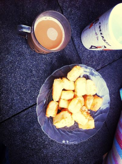 After run lets get the Morning coffee with cassava fries Coffee Cassava