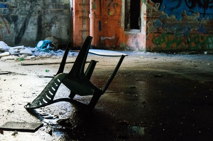 Abandoned Places Shadows Chair