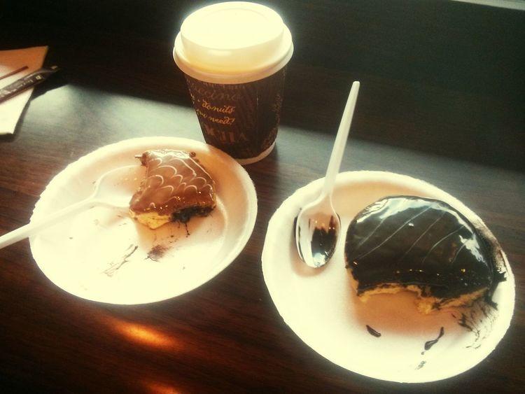 New Year Around The World Donuts Chocolate Covered Coffee